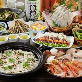 3月~5月【春のご宴会】歓送迎会はぜひ魚盛で!ご宴会コースは、飲み放題付3,600円・4100円・5,000円とご用意!